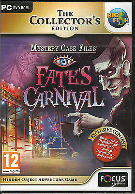 Mystery Case Files FATE'S CARNIVAL Hidden Object PC Game DVD NEW