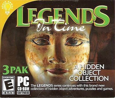 DREAMSCAPE MYSTERY Hidden Object 3 PACK LEGENDS IN TIME PC Game CD-ROM NEW