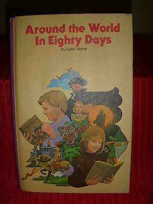 Children's Classic Library-Around the World in Eighty Days by Jules Verne-1979HB