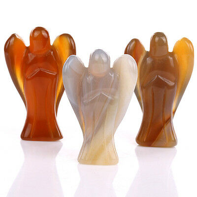 Carnelian Loveiy Angel Wing Figurine Craved 1pcs Free Pouch AN014
