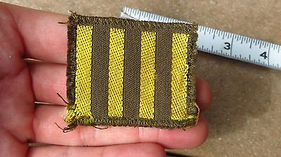 WW2 US Army Military Overseas Bars Embroidered Insignia 4 Bars Bevo Theater Made