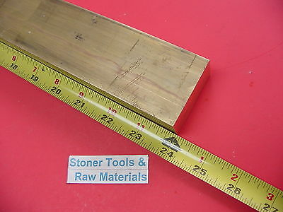 "1"" x 2"" C360 BRASS FLAT BAR 24"" long Solid 1.00"" Plate Mill Stock H02"