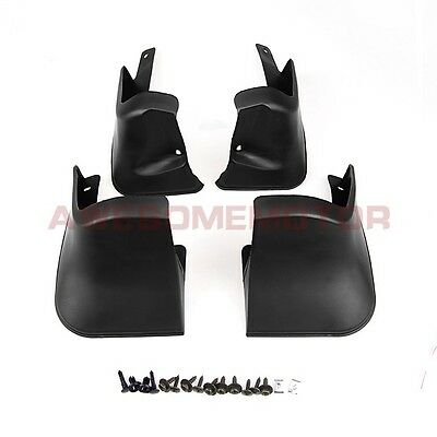 New Fit Toyota Corolla Sedan 2014 Black 4 Door Rubber Mud Flaps Splash Guards AM