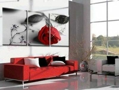 (3PCS) Modern Abstract Art Oil Painting On canvas Wall Deco (NO Frame)