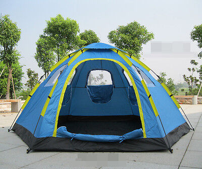 Outdoor camping tents full auhttp:tomatic 3-8 free to build a six angle big tent