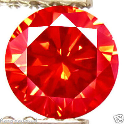 1.44ct HUGE RARE NATURAL SPARKLING BRIGHT RED DIAMOND EARTH MINED REAL DIAMOND!