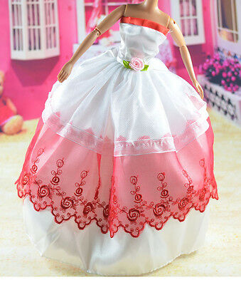 lovely New Handmade Party Clothes Fashion Dress for Noble Barbie Doll   **bab48