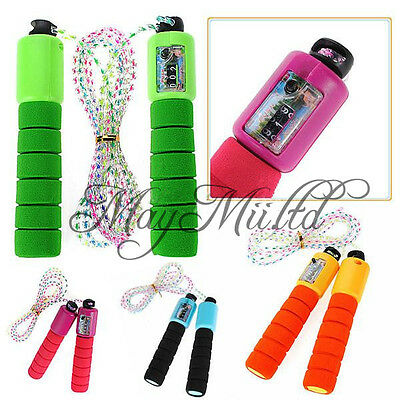 Hot Sales Adjustable Skipping Jump Rope Counter Exercise Workout Gym Fitness G