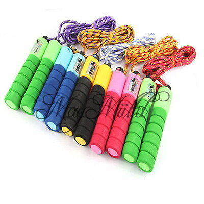 Adjustable Skipping Jump Rope Counter Exercise Workout Gym Fitness Jumping G