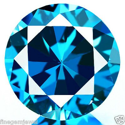 0.82ct HUGE NATURAL SPARKLING VS CLEAN BEST BRIGHT BLUE DIAMOND EARTH MINED!