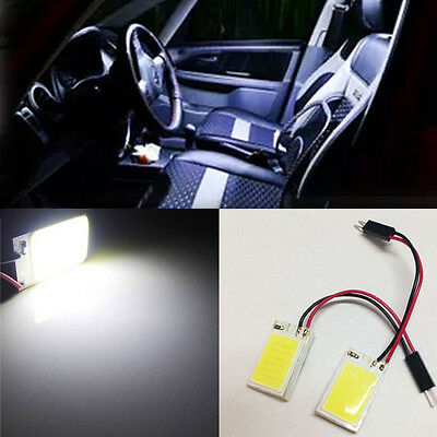 2x White 18-COB HID LED Panel Light Car Interior Map Dome Door Trunk Bulb N98 L8