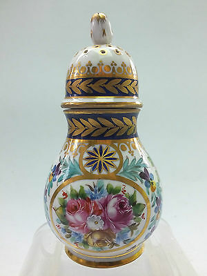 """CONTINENTAL SEVRES PORCELAIN """"SANDER"""" PAINTED WITH FLOWERS - SCREW TOP 19thC"""