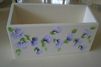 Hand Crafted and Hand PaintedPurple Sweet Pea Single Letter Rack