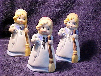 3 VINTAGE CINDERELLA BELLS - ONE JASCO  THE OTHER TWO UNMARKED