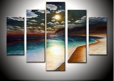 hand-painted artwork The Yellow beach High Wall Decor Landscape Oil Painting