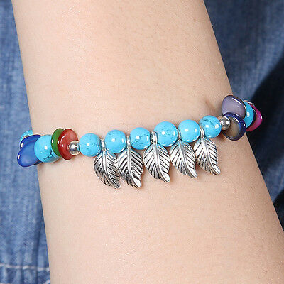 HOT Free shipping New Tibet silver multicolor jade turquoise bead bracelet S129D