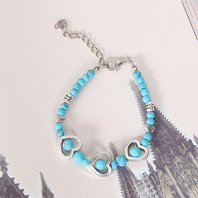 HOT Free shipping New Tibet silver multicolor jade turquoise bead bracelet S127D