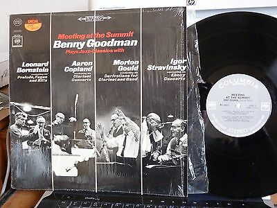 LP BENNY GOODMAN MEETING AT THE SUMMIT PLAYS JAZZ-CLASSICS WITH COL MS6805 MINT-
