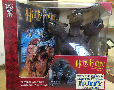 Harry Potter and the Sorcerer's Stone DVD Limited Edition Fluffy Collectible NEW