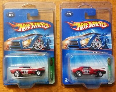 (2) 2005 HOT WHEELS SUPER TREASURE HUNT '67 CAMARO ONE WITH  VARIANT RED ENGINE