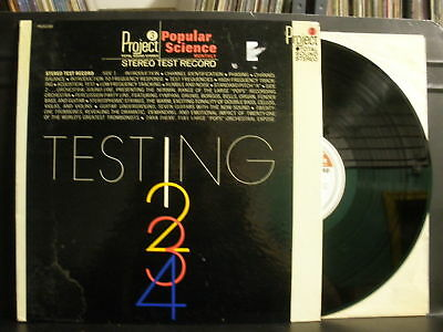 PROJECT 3 Popular Science Stereo Test Record LP VG+