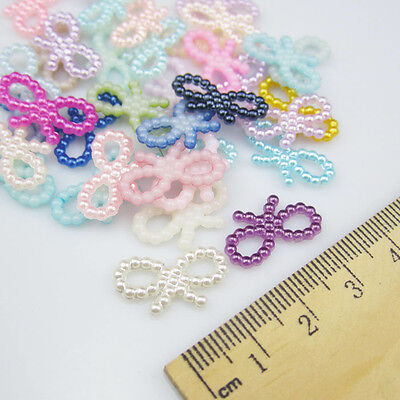 DIY NEW 50pcs Resin bow-knot mix colors Scrapbooking For making phone crafts