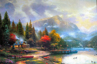 "Thomas Kinkade End of a Perfect Day III 12"" x 18"" Classic Edition Canvas"