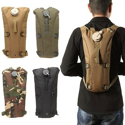3L Hydration Packs Tactical Water Bag Assault Backpack Hiking Pouch Tan
