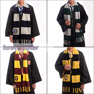 1 PCS Harry Potter Gryffindor Slytherin Ravenclaw Hufflepuff  Knitted Scarf Gift