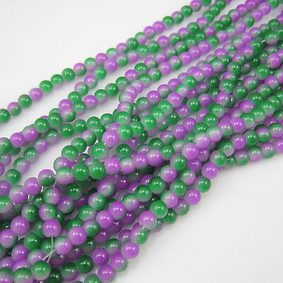 Charm 50pcs 6mm Ball Glass crystal Beads for Fit Bracelets Necklaces mix colors