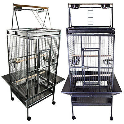 Parrot Cage Large Classic Play Top Perch Ladder Bird Cockatoo Macaws Aviary