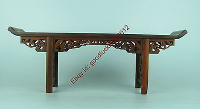 nice Chinese Red suanzhi wood carved small table /or antique display F047