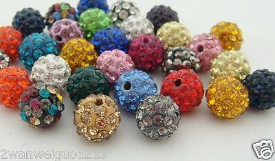 hot 20pcs Clay Pave Crystal bead for Shamballa Bracelects 10mm High Quality Z01