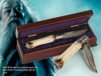 HARRY POTTER OFFICIAL DUMBLEDORE DIECAST WIZARD KNIFE + COLLECTORS BOX XMAS GIFT