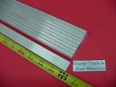 "10 Pieces 1/8"" X 1/2"" ALUMINUM 6061 FLAT BAR 36"" long T6511 .125"" New Mill Stock"
