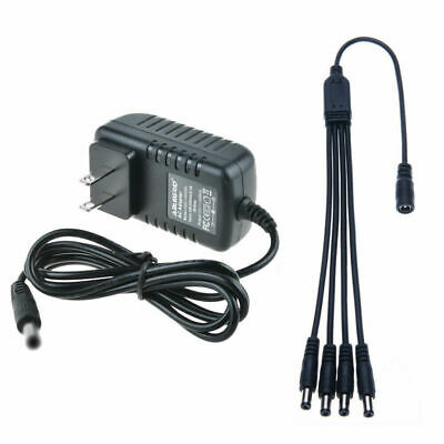 12VDC 2A 2000mA Security Camera Power Supply Adapter & Splitter QSee Zmodo LOREX