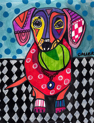 DACHSHUND Art Dog Doxie Dogs Poster PRINT Painting Poster Pop ART