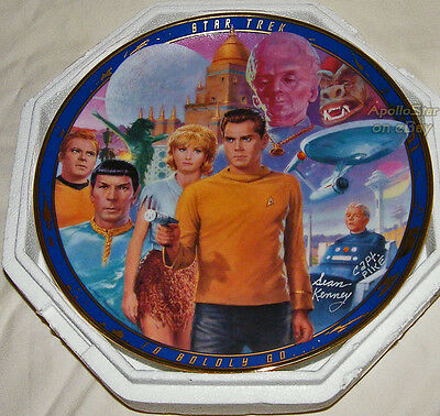 Autographed 30th Anniversary Star Trek THE MENAGERIE Plate ~ Hamilton Collection