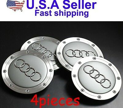 4B0601165A AUDI CENTER HUP CAPS WHEEL A6 A3 A4 RS6 ALLROAD (4 PCS) (1165A )