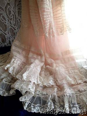 Layers of Frothy French Lace & Ruffles! c1900 Antique Dress Downton Abbey Gibson