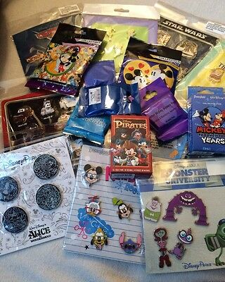 Disney Authentic 25 Pin Trading Lot Unopened Booster And Pin Packs