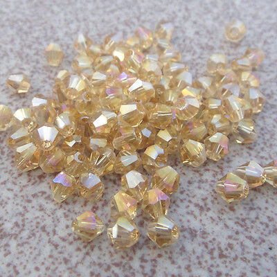 Free Shipping DIY jewelry 100PCS Austrian Crystal 4mm # 5301 Bicone Beads MU049