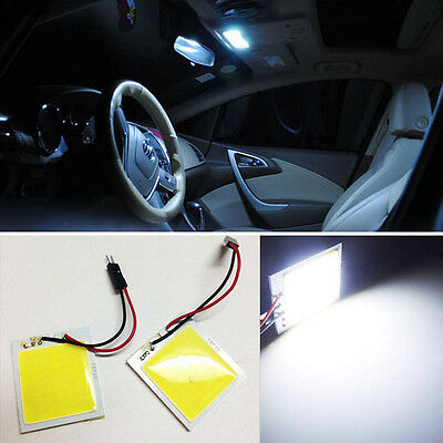 2x Xenon White 48-COB LED Panel For Car Interior Map/Dome/Door/Trunk Light BF6