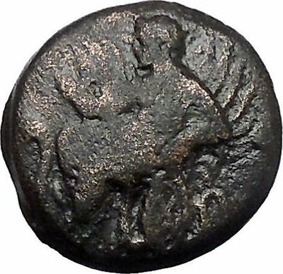 ELEUSIS in ATTICA near ATHENS 360BC Triptolemus Boar Ancient Greek Coin i49154