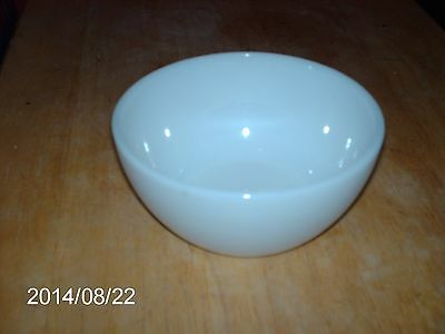 VINTAGE FEDERAL GLASS CO. MILK GLASS WHITE SOUP BOWL HEAT PROOF