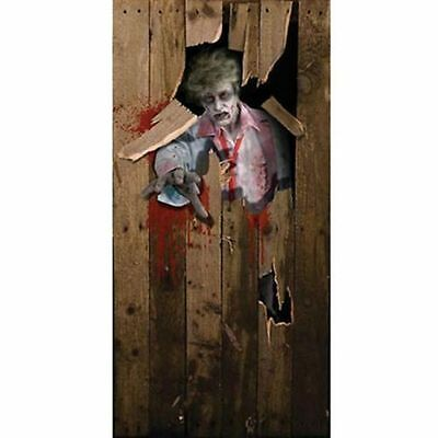 zombie scary Halloween Prop Party DOOR POSTER decoration 6ft x 3ft house party