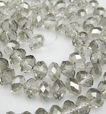 NEW DIY Jewelry Faceted 100pcs Rondelle crystal #5040 3x4mm Beads Plated AB