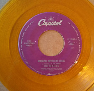 Beatles 'Magical Mystery Tour' Yellow Colored Vinyl Capitol Jukebox Label Single