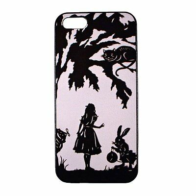 Cheshire Cat Rabbit Alice in Wonderland Hard Back Case Cover for iPhone 5 5S