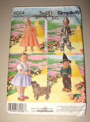 Simplicity 4011 The Wizard of OZ Childrens' Costume PatternSizes 1/2-4
